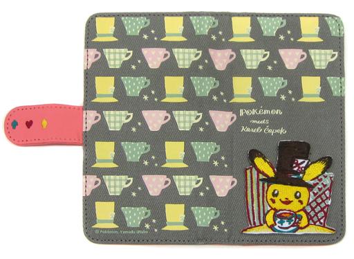 【中古】携帯ジャケット・カバー(キャラクター) ピカチュウ マルチスマホカバー 150 Pokemon meets Karel Capek [tea party] 「ポケットモンスター」 ポケモンセンター限定