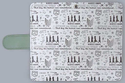 """Total pattern notebook type smartphone case """"Attack on Titan"""""""