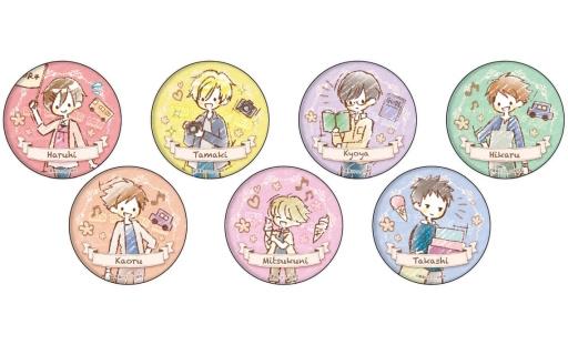 【BOX】缶バッジ 桜蘭高校ホスト部 03.旅ver. グラフアートデザイン