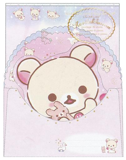 【新品】紙製品(キャラクター) コリラックマのふんわりかわいい夢テーマ(ぬいぐるみ抱っこ) レターセット(2種丁合) 「リラックマ」