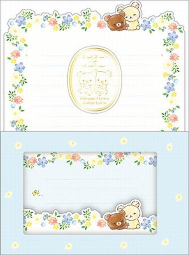 【新品】紙製品(キャラクター) コリラックマ meets チャイロイコグマテーマ レターセット(窓空き封筒) 「リラックマ」