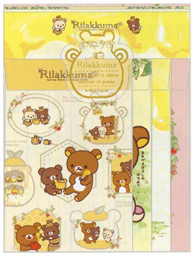 【中古】紙製品(キャラクター) はちみつの森の収穫祭テーマ レターセット(4種丁合) 「リラックマ」