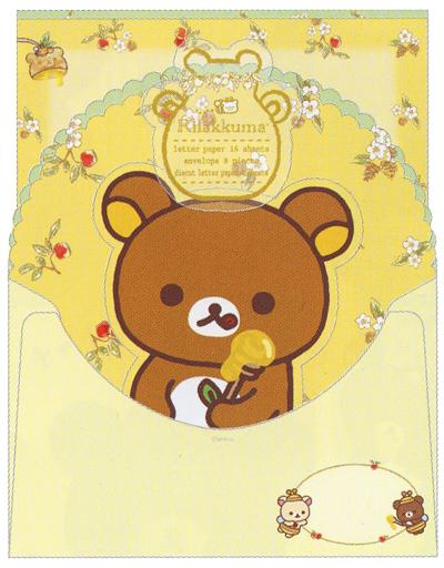 【中古】紙製品(キャラクター) はちみつの森の収穫祭テーマ レターセット(2種丁合) 「リラックマ」