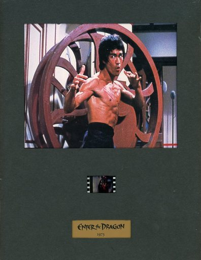 【中古】紙製品(男性) [単品] ブルース・リー 35mmフィルム入りポートレート 「VHS 燃えよドラゴン コレクターズボックス」 同梱品