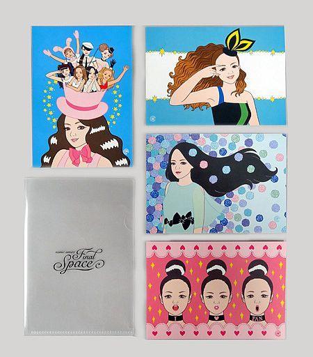 安室奈美恵 安室ちゃんイラストアートカード4枚セットミニクリア
