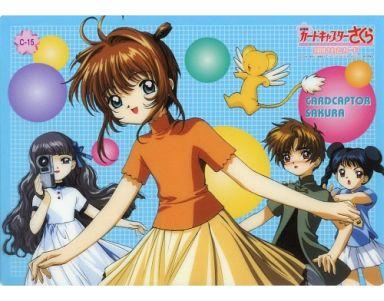C-15 桜&小狼&苺鈴&知世&ケルベロス 「劇場版 カードキャプターさくら 封印されたカード カードコレクションL」