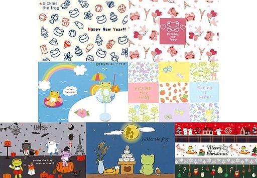 【新品】ポストカード(キャラクター) pickles the frog-かえるのピクルス- ポストカードセット(7枚組)