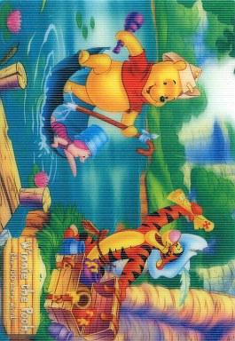 【中古】キャラカード(キャラクター) くまのプーさん 100エーカーの森 ジャンボカードダス200 ディズニーキャラクターパレード 3Dアートボード