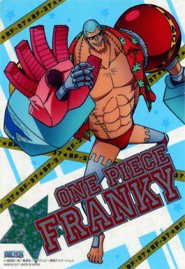 【中古】キャラカード(キャラクター) フランキー(箔押しレア) 「ワンピース ニューワールドプレート ジャンボカードダス」
