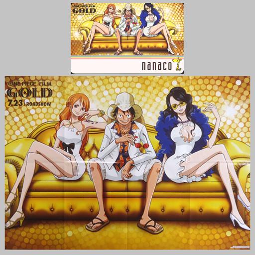 ナミ/モンキー・D・ルフィ/ニコ・ロビン「nanacoカード100POINT ONE PIECE FILM GOLD/佐藤雅将 [B2ポスター付き]」 カジノ服ver