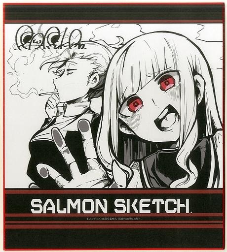 【オリジナル】複製色紙(鮭乃らるかん) C94新刊購入特典/Salmonすけっち&メロンブックス