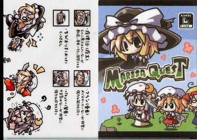 【東方Project】A4クリアファイル 魔理沙&フランドール&パチュリー&アリス(あおブルー) C80/Little Lite