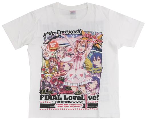 【ラブライブ!】いまが最高!Tシャツ Mサイズ ホワイト μ's(犬威赤彦) COMIC1☆10/MIX-ISM