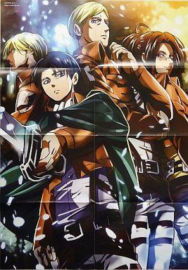 【進撃の巨人】A1ポスター リヴァイ&エルヴィン&ミケ&ハンジ(yuna) C85/S.L.O.