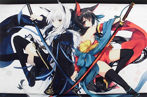 【オリジナル】武器娘B2タペストリー(凪白みと&天川さっこ) コミティア116/紅眼騎士団