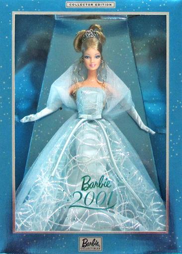 【中古】ドール バービー 2001(白人Ver./ブルードレス) 「Barbie -バービー-」 CollectorEdition