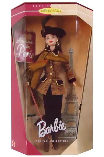 【中古】ドール [ランクB] Autumn in Paris -オータムinパリ- CITY SEASONS Collector Edition 「Barbie -バービー-」 1998 FALL COLLECTION