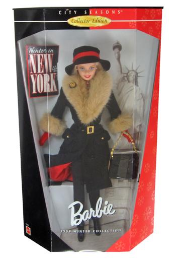 【中古】ドール Winter in NEW YORK -ウィンターinニューヨーク- 「Barbie -バービー-」 CITY SEASONS Collector Edition