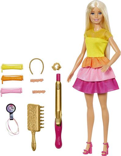 マテル 新品 ドール バービーカールヘア 「Barbie -バービー-」 かんたんヘアアレンジ