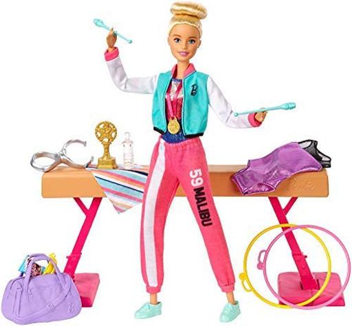 マテル 新品 ドール バービーとおしごと! たいそうせんしゅ 「Barbie -バービー-」