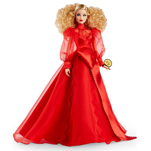 マテル 新品 ドール グラム・ブロンド マテル75周年 アニバーサリーバービー 「Barbie -バービー-」 バービーシグネチャー ブラックラベル パートナーシップストア限定