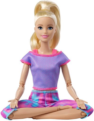 マテル 新品 ドール バービーキュートにポーズ!(パープルピンク) 「Barbie -バービー-」