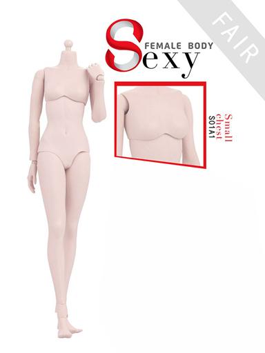 【予約】ドールアクセサリー 1/6 女性素体 ラバージョイント 白肌 スモールバスト