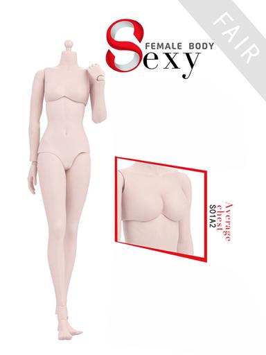 【予約】ドールアクセサリー 1/6 女性素体 ラバージョイント 白肌 ミドルバスト