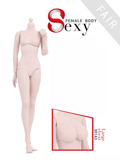 【予約】ドールアクセサリー 1/6 女性素体 ラバージョイント 白肌 ラージバスト