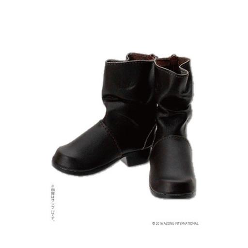 【新品】ドールアクセサリー 50cm用 くしゅくしゅエンジニアブーツ(ダークブラウン) 「Black Raven Clothing」