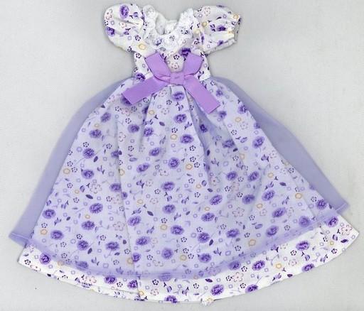 【中古】ドールアクセサリー 22cm用 花柄ドレス(青) 「リカちゃん」 リカちゃんキャッスル限定