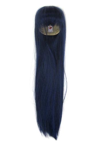 【中古】ドールアクセサリー 9?9.5インチ用 耐熱ヘアウィッグ ロングストレート2 Lサイズ(ブルーブラック) 「ひめかずら」