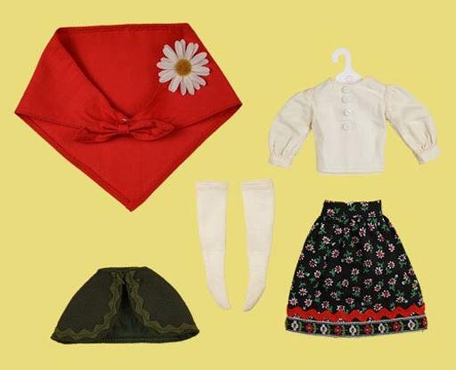 クロスワールドコネクションズ 新品 ドールアクセサリー ネオブライス用 バブーシュカガールセット(レッド) 「Blythe-ブライス-」 Dear Darling Fashion for Dolls