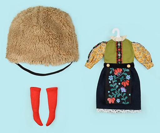 クロスワールドコネクションズ 新品 ドールアクセサリー ネオブライス用 ファーハットガールセット(ベージュ) 「Blythe-ブライス-」 Dear Darling Fashion for Dolls