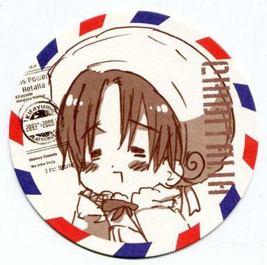 【中古】コースター(キャラクター) ちびたりあ まるかいて地球コースター「ヘタリア」ワールドツアー2009アニメイトフェア特典
