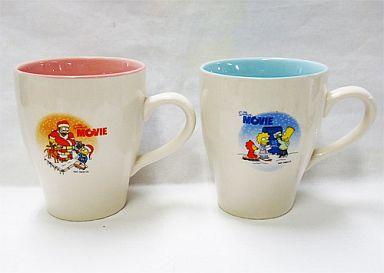 【中古】マグカップ・湯のみ(キャラクター) ザ・シンプソンズのクリスマス ペアマグ