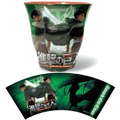 【中古】マグカップ・湯のみ(キャラクター) 02 エレン&リヴァイ メラミンカップ 「進撃の巨人」