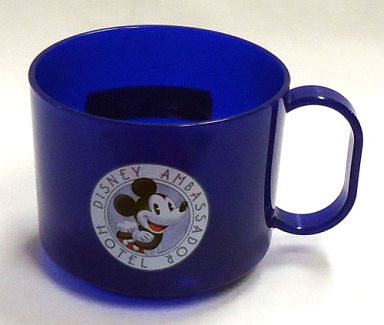 【中古】マグカップ・湯のみ(キャラクター) ミッキー(ブルー) 子ども用マグカップ(プラコップ) 「ディズニーアンバサダーホテル」 アメニティグッズ
