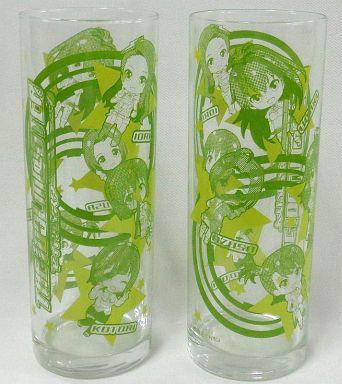 【中古】グラス(キャラクター) 集合(7人/グリーン) グラス 「アイドルマスターカフェ」 グッドスマイル&カラオケの鉄人カフェ限定
