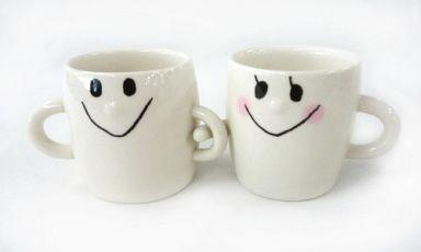 【中古】マグカップ・湯のみ(キャラクター) 男の子&女の子 なかよしペアマグカップ (2個組)