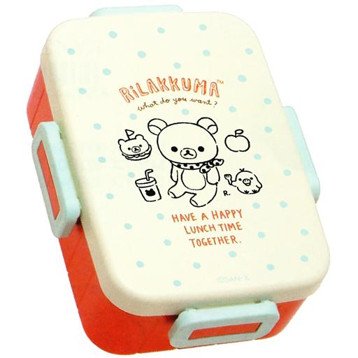 【中古】食器その他(キャラクター) リラックマ&キイロイトリ 4点ロックタイトランチボックス 「リラックマ」