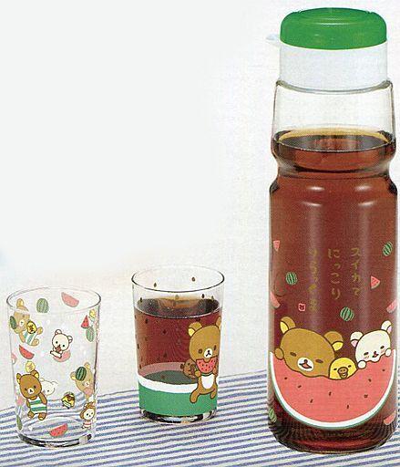 【中古】食器その他(キャラクター) スイカ リラックマの夏休み 麦茶ポット&グラスセット 「リラックマ」