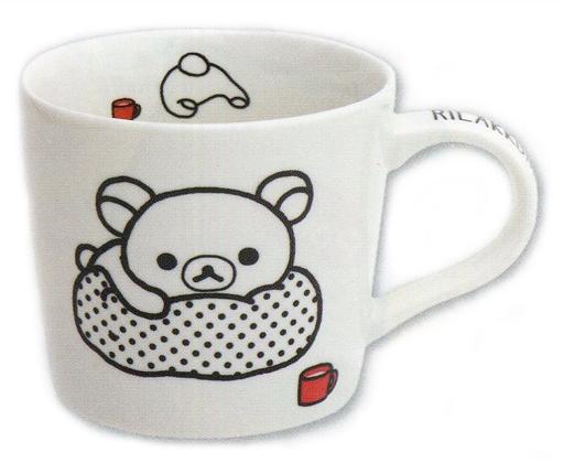 【新品】マグカップ・湯のみ(キャラクター) リラックマ(寝そべり) モノクロリラックマテーマ マグカップ 「リラックマ」