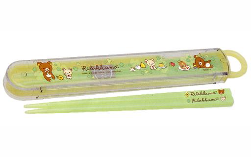 【新品】箸・スプーン(キャラクター) リラックマ&コリラックマ&キイロイトリ(スイーツ) ランチマーケット はし&はし箱(はし16.5cm) 「リラックマ」