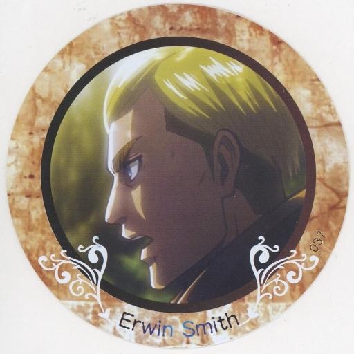 【中古】コースター(キャラクター) No.037 エルヴィン・スミス 「進撃の巨人 PVCコレクションコースター2」