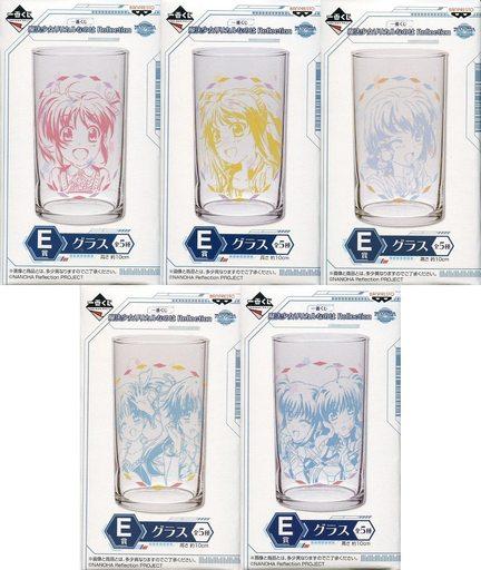 【中古】グラス(キャラクター) 全5種セット グラス 「一番くじ 魔法少女リリカルなのは Reflection」 E賞