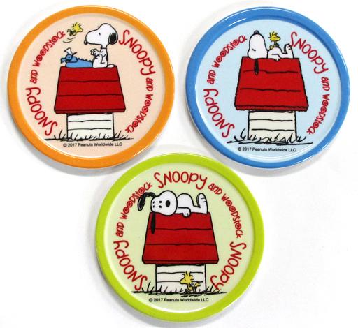 【中古】コースター(キャラクター) 7.スヌーピー(犬小屋) コースターセット(3枚組) 「サンリオ当りくじ PEANUTS(SNOOPY)当りくじ」