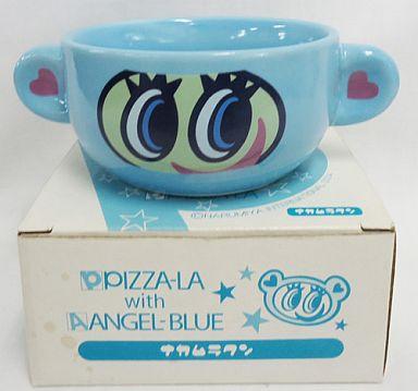 【中古】皿・茶碗(キャラクター) ナカムラクン スープカップ 「PIZZA-LA with ANGEL-BLUE」 ピザーラキャンペーン品