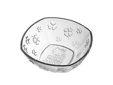 【中古】皿・茶碗(キャラクター) Aクローバー ミニストップオリジナル ハローキティ スクエアボウル 「ハローキティスクエアボウルもれなくプレゼント キャンペーン」