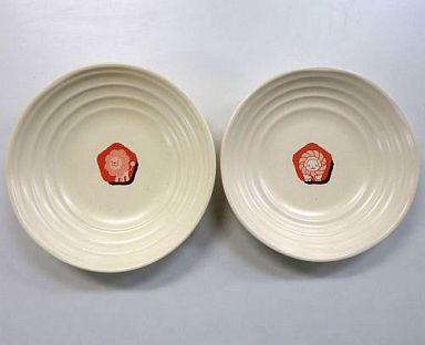 【中古】皿・茶碗(キャラクター) ポンデライオン&フレンチウーラー パスタ皿セット(2枚組) ミスタードーナツ ポイント交換景品